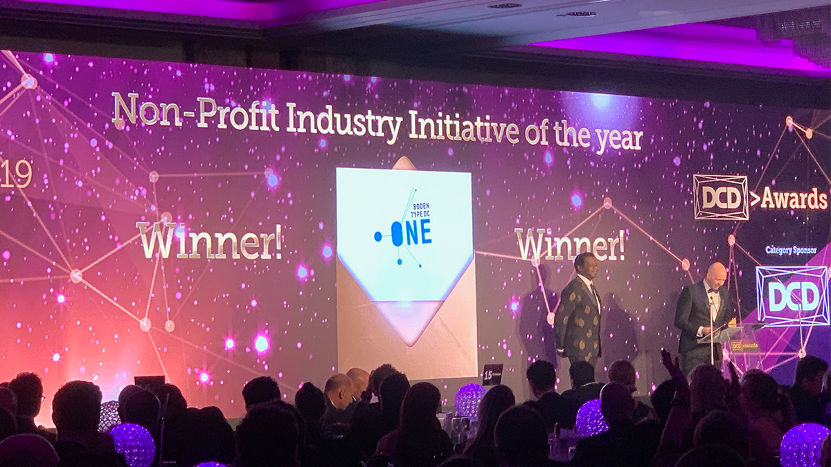 Nonprofit Industry Initiative of the year at DCD Awards 2019
