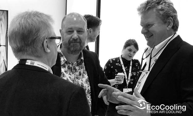 EcoCooling MD, Alan Beresford talking to consortium members