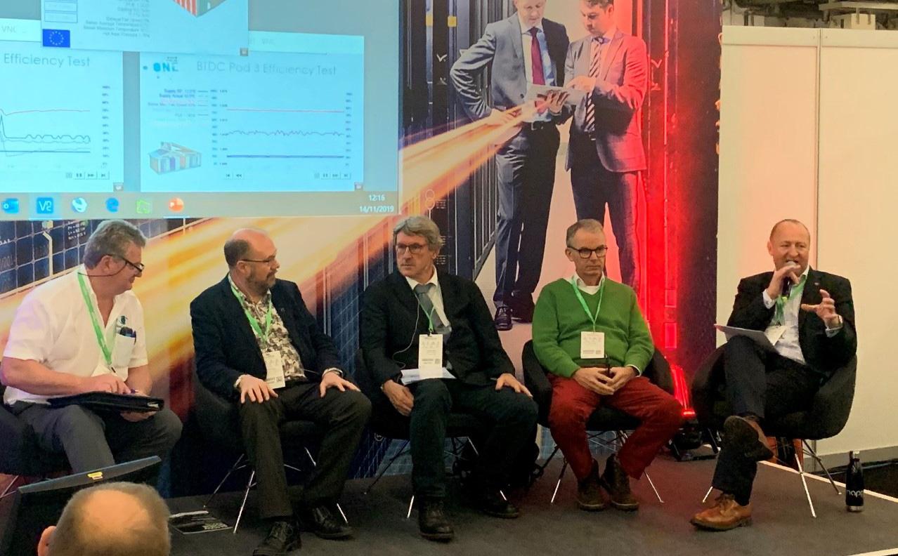 Panellists at DCW in Frankfurt (left to right: Alan Beresford, Jon Summers, Thomas Batz, John Laban, Mark Acton).
