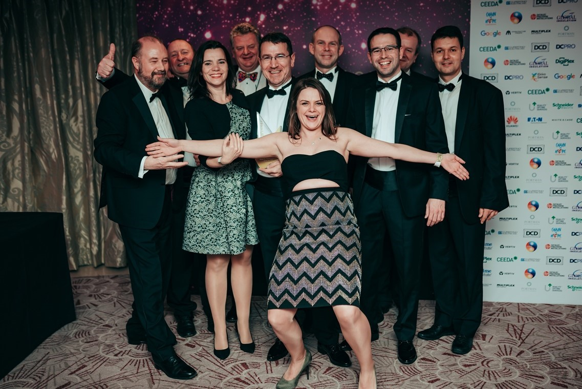 The BTDC team having a bit of fun after having won the prize in the category Non-Profit Initiative of Year